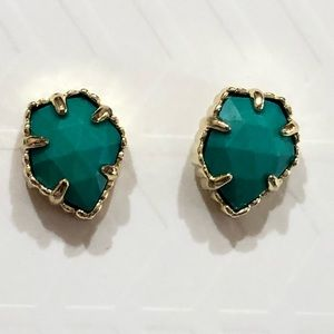 Kendra Scott Tessa stud earrings in gold/turquoise